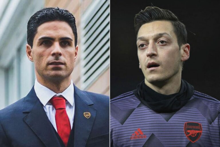 Read more about the article Mikel Arteta Hints Possible Ozil Return To Arsenal Squad